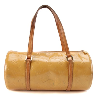 Louis Vuitton Bedford Barrel Bag in Monogram Vernis and Vachetta Leather