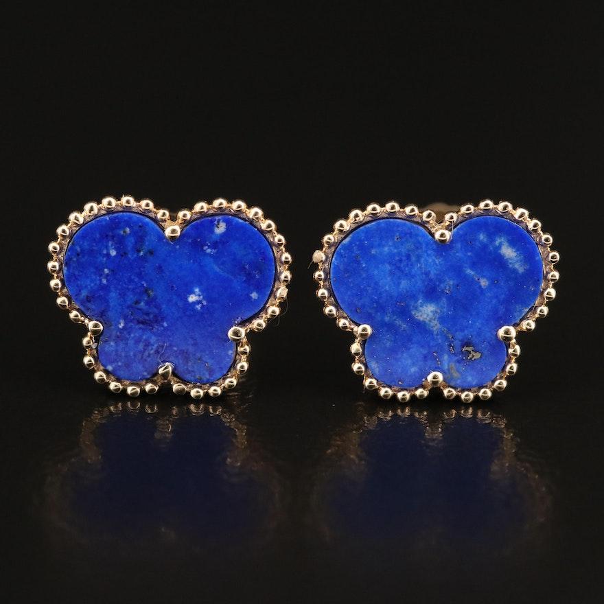EFFY 14K Lapis Lazuli Butterfly Stud Earrings