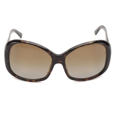 Prada SPR 03M Havana Brown Sunglasses with Gradient Polarized Lenses