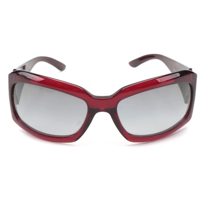 BVLGARI 860 Rectangular Red Sunglasses with Case