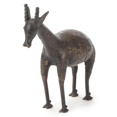 West African Brass Animal Sculpture