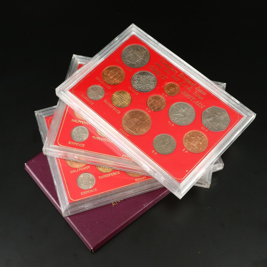Four Great Britain Coin Sets