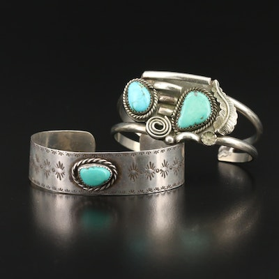 Southwestern Turquoise Cuffs Including Sterling Silver