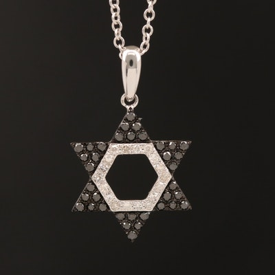 EFFY 14K Diamond Star of David Pendant Necklace
