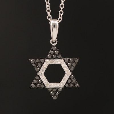 EFFY 14K Diamond Star of David Pendant Necklace