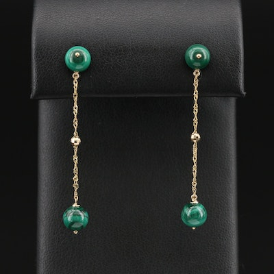 EFFY 14K Malachite Drop Earrings