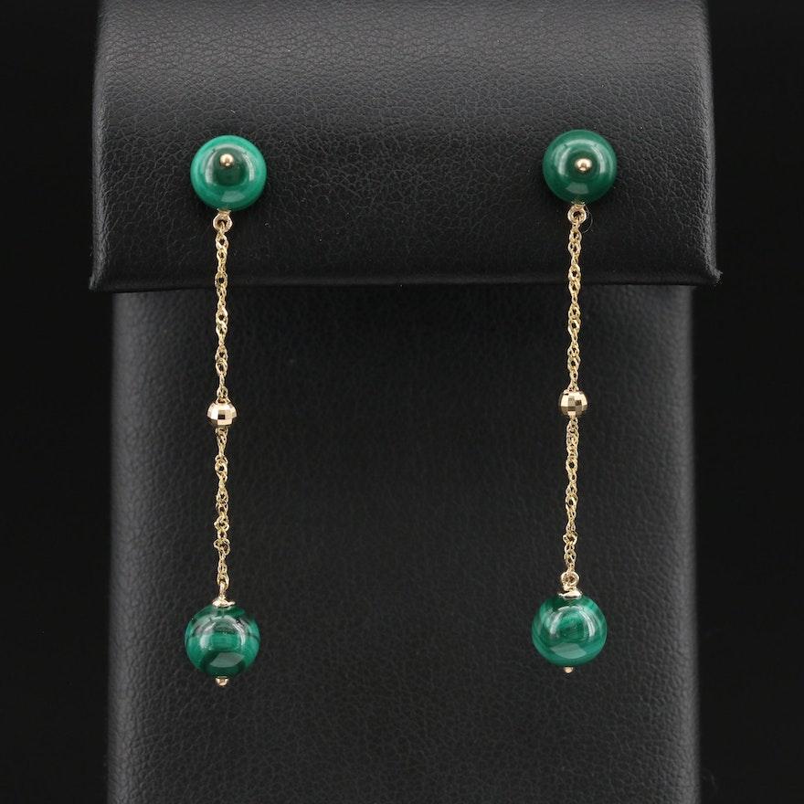 EFFY 14K Malachite Drop Earrings