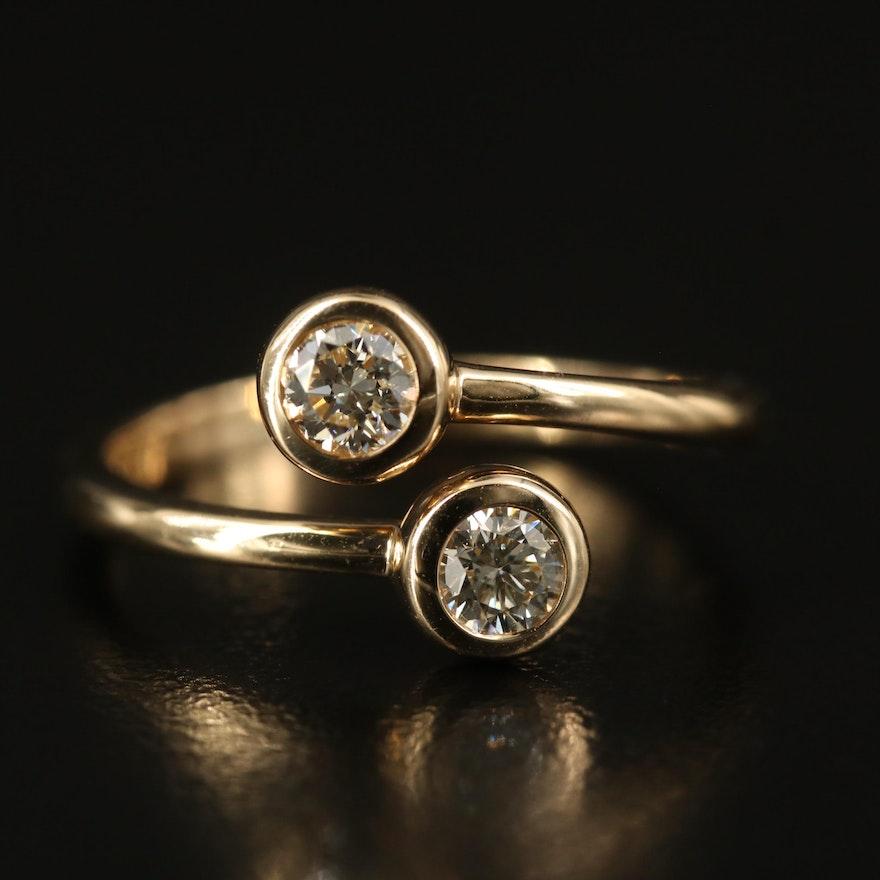 EFFY 14K Diamond Bypass Ring