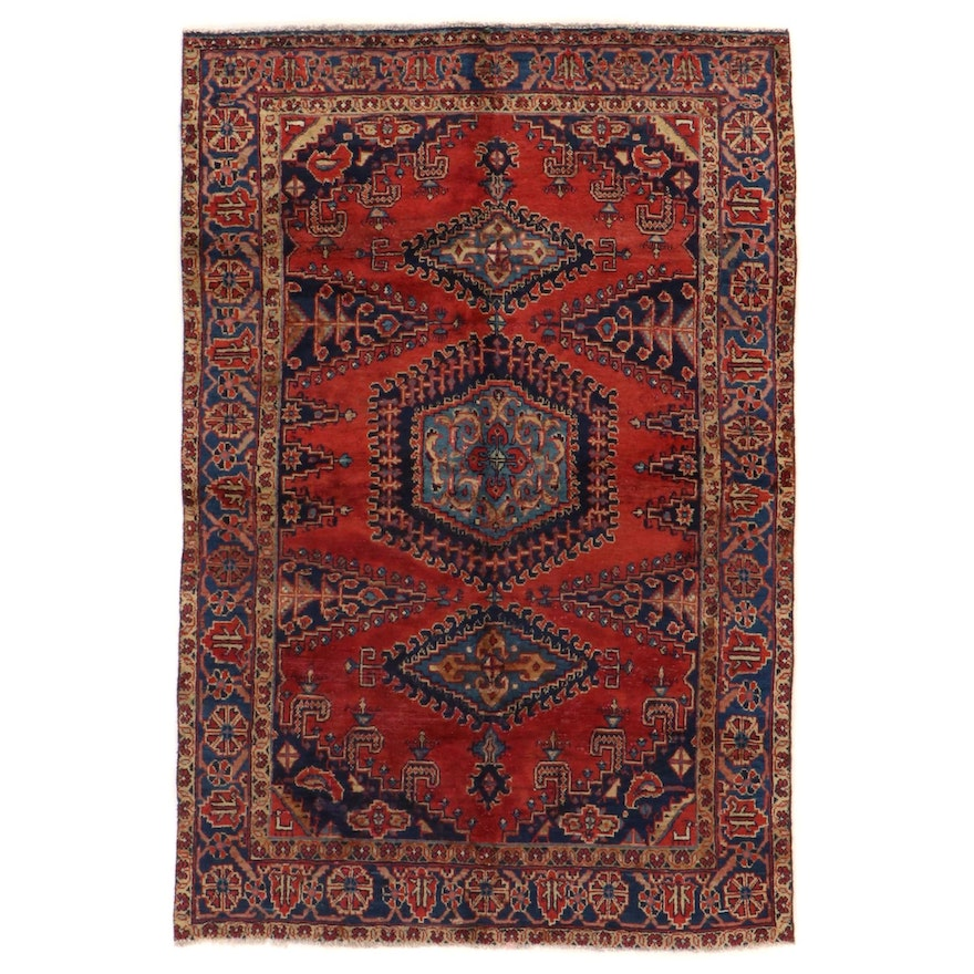 5' x 7'6 Hand-Knotted Persian Viss Area Rug