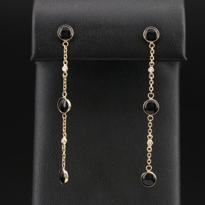 EFFY 14K Black Onyx and Diamond Drop Earrings