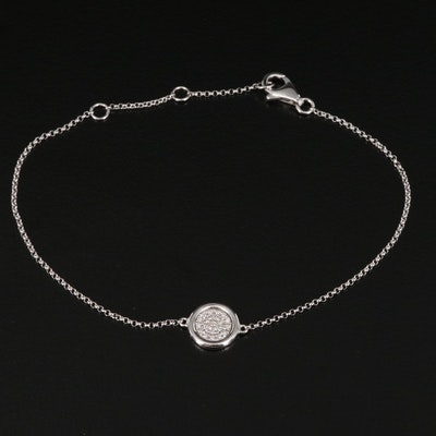 EFFY 14K Pavé Diamond Bracelet