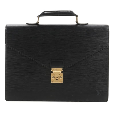 Louis Vuitton Serviette Conseiller in Black Epi Leather
