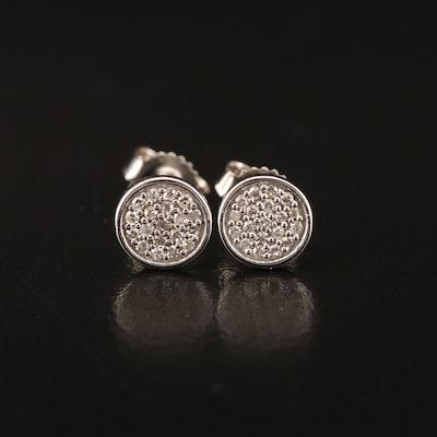 10K Diamond Cluster Earrings