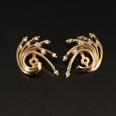 14K Diamond Spray Earring Jackets