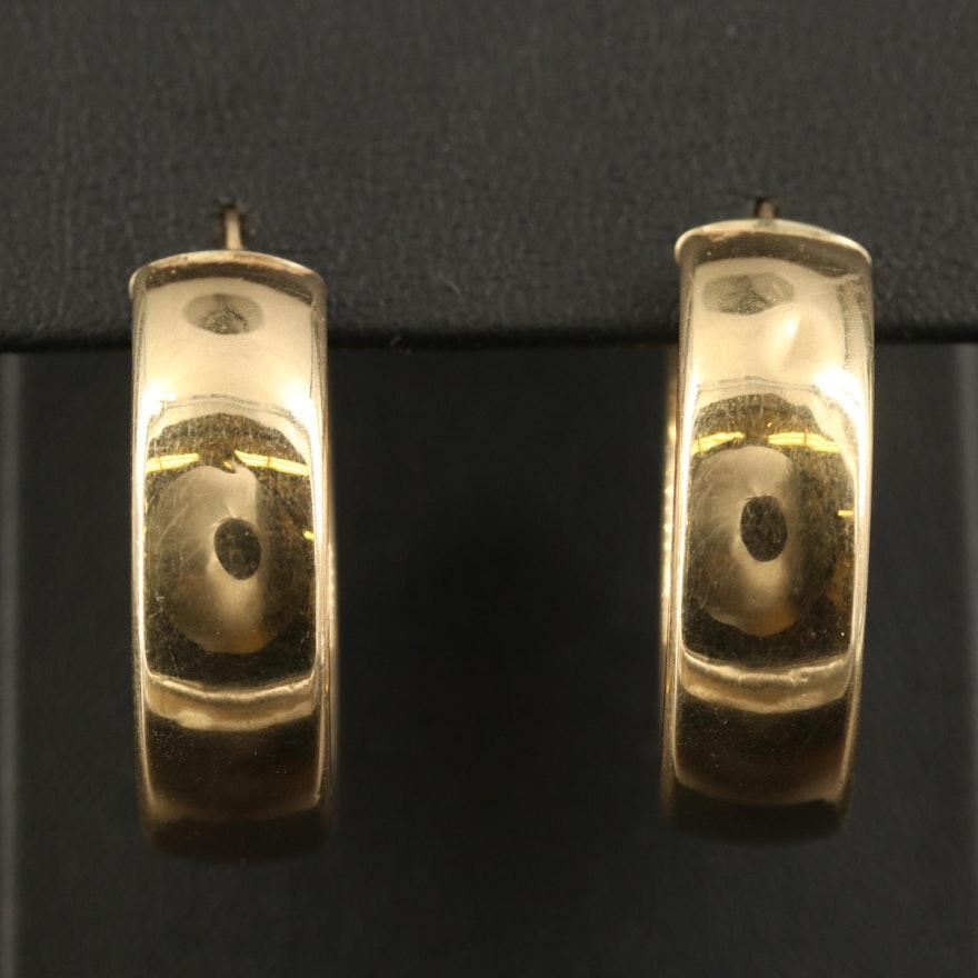 14K Wide Hoop Earrings