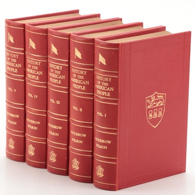 """Signed """"History of the American People,"""" Complete Set by Woodrow Wilson, 1902"""