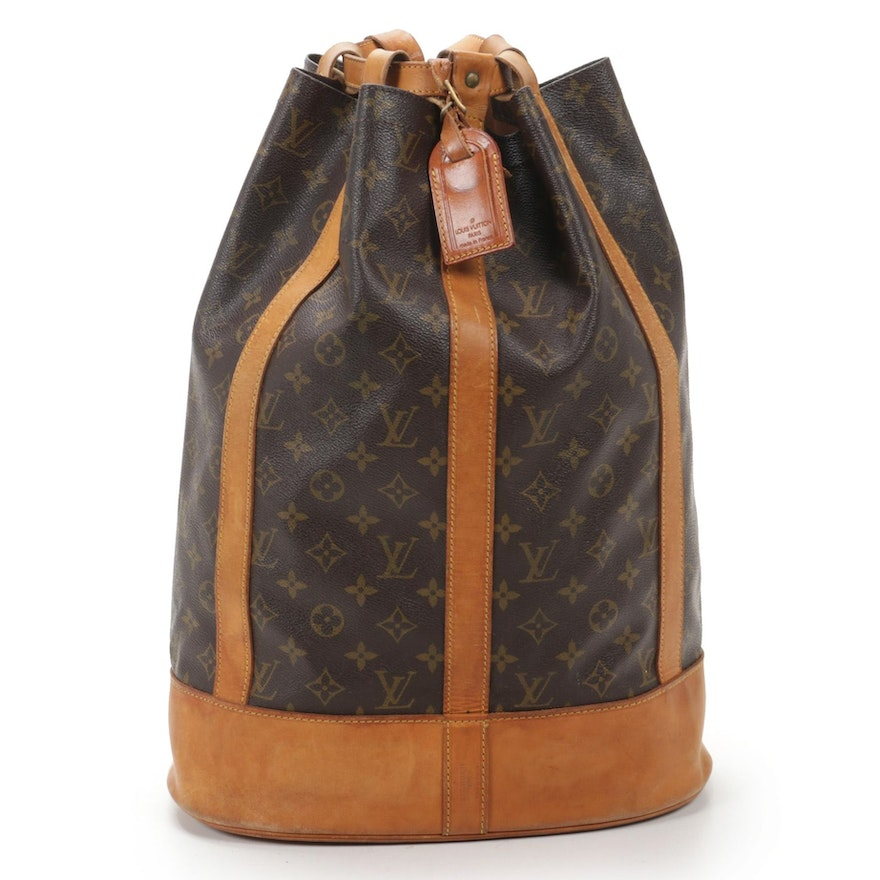 Louis Vuitton Randonnee GM Backpack Bag in Monogram Canvas and Vachetta Leather