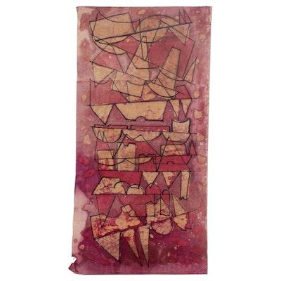 Abstract Batik Textile Panel