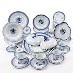 "Royal Copenhagen ""Tranquebar Blue"" Porcelain Dinner and Tableware, Mid-20th C."