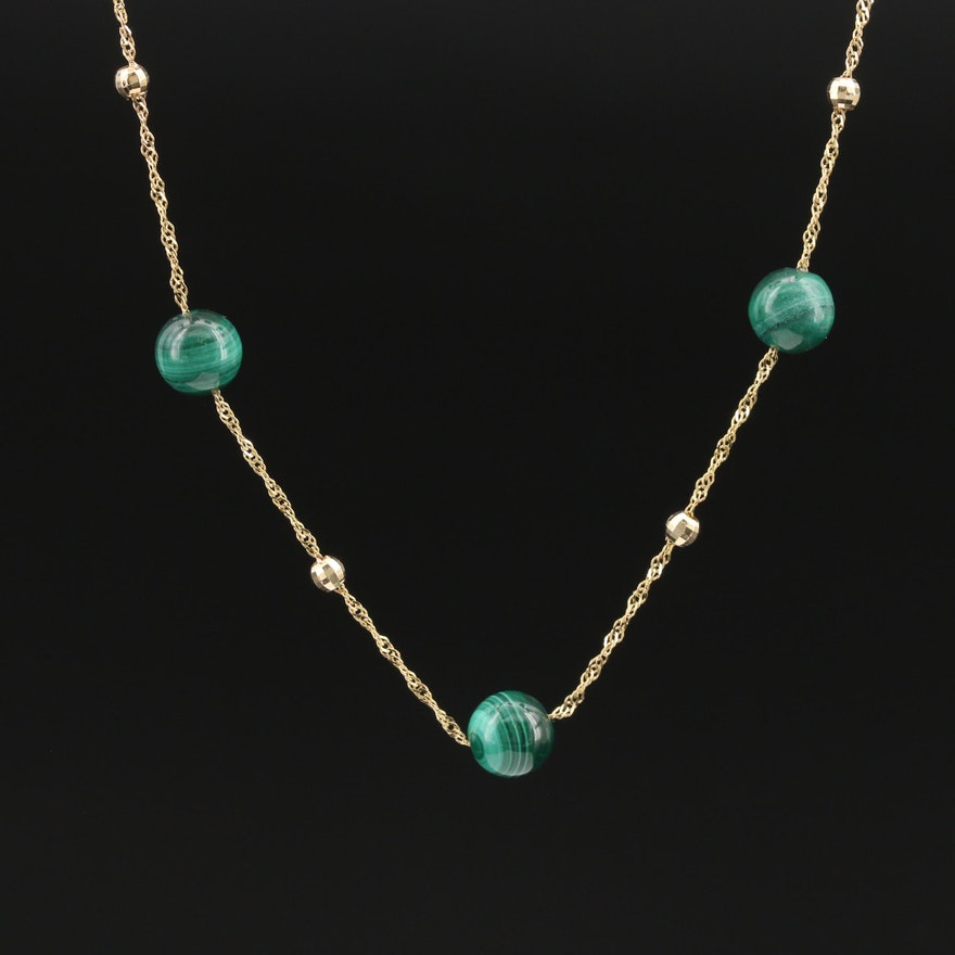 EFFY 14K Malachite Station Necklace