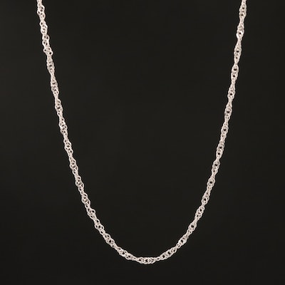 Italian 14K Singapore Chain Necklace