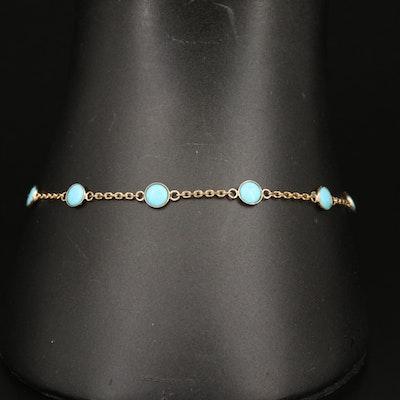 EFFY 14K Turquoise Station Bracelet