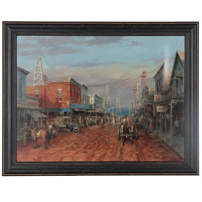 "Andy Thomas Giclée ""Boom Town,"" 21st Century"