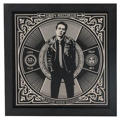 Shepard Fairey Serigraph of Joe Strummer, 2011