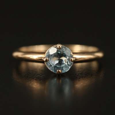 14K Sky Blue Topaz Ring