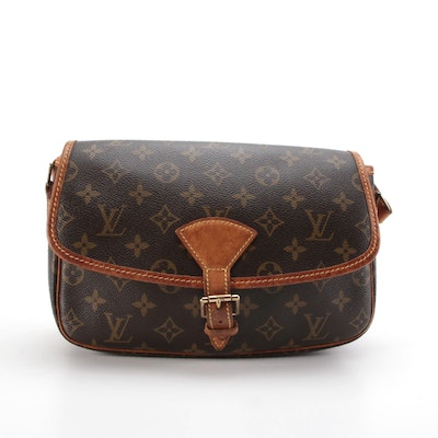 Louis Vuitton Sologne Crossbody Bag in Monogram Canvas and Vachetta Leather