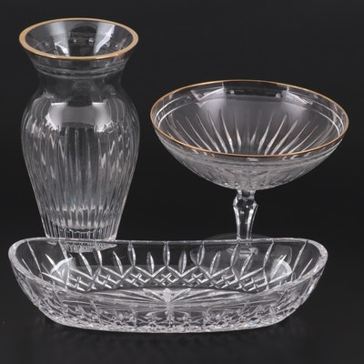 """Waterford """"Lismore"""" Celery Dish with Marquis by Waterford Compote and Vase"""