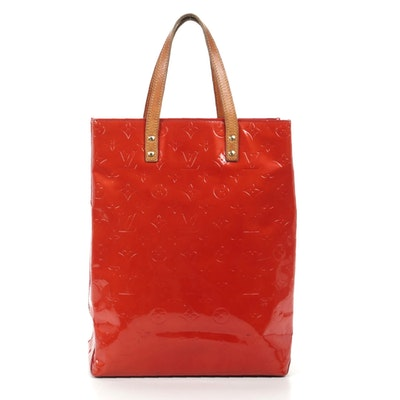 Louis Vuitton Reade MM Tote in Red Monogram Vernis Leather
