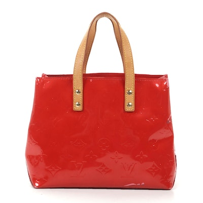 Louis Vuitton Reade PM Tote in Red Monogram Vernis Leather