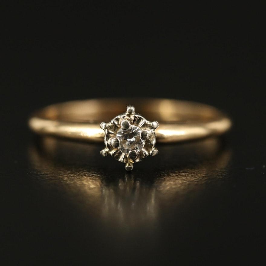 14K Illusion Set Diamond Solitaire Ring