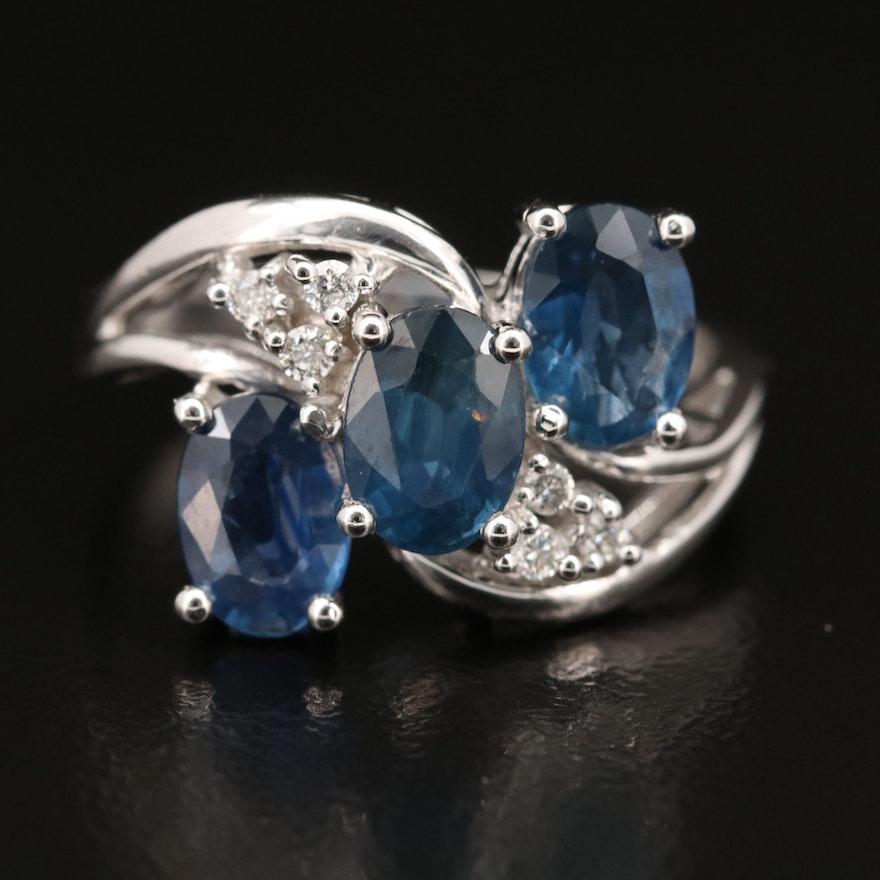 EFFY 14K Sapphire and Diamond Ring