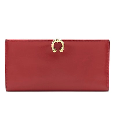 Gucci Bifold Wallet in Smooth Red Leather