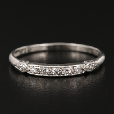 Circa 1930s Platinum Diamond Band