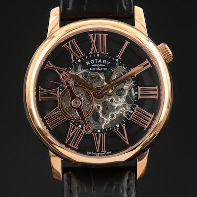 Rotary Partial Skeleton Dial Wristwatch
