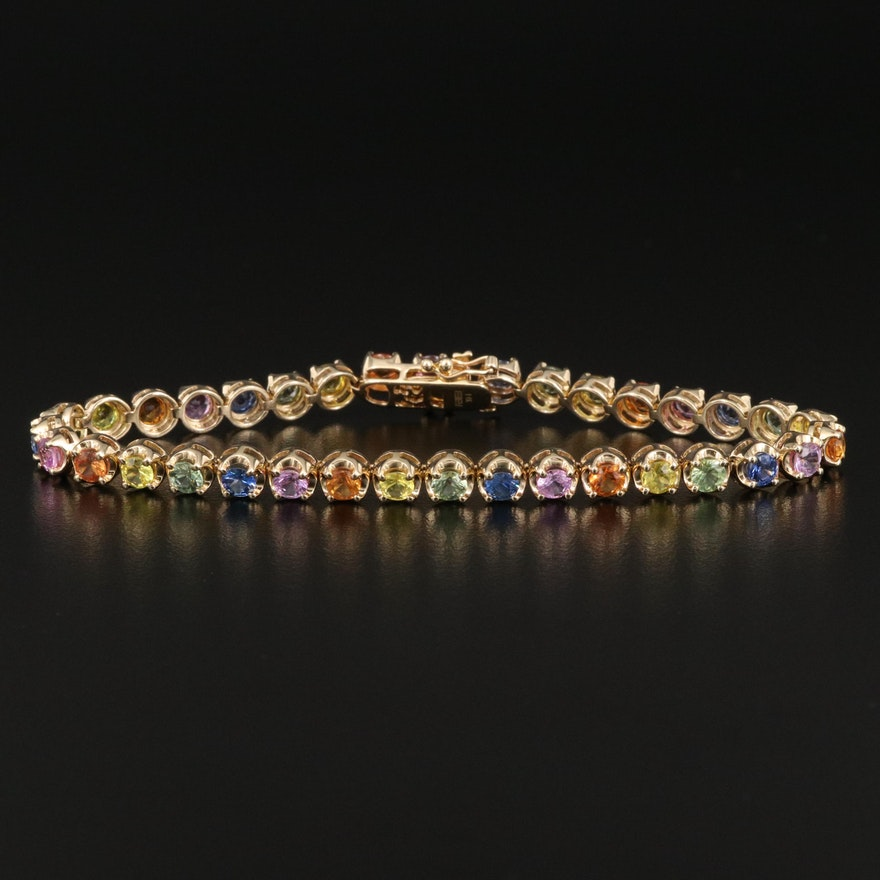 EFFY 14K Multi-Colored Sapphire Link Bracelet