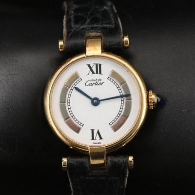 Vintage Cartier Vendôme Vermeil Quartz Wristwatch