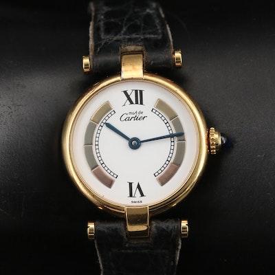 Vintage Cartier Vendôme Vermeil Quartz Wristwatch