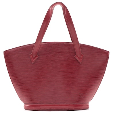 Louis Vuitton St. Jacques Bag in Red Epi Leather