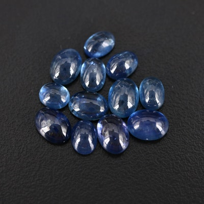 Loose 18.74 CTW Oval Sapphire Cabochons