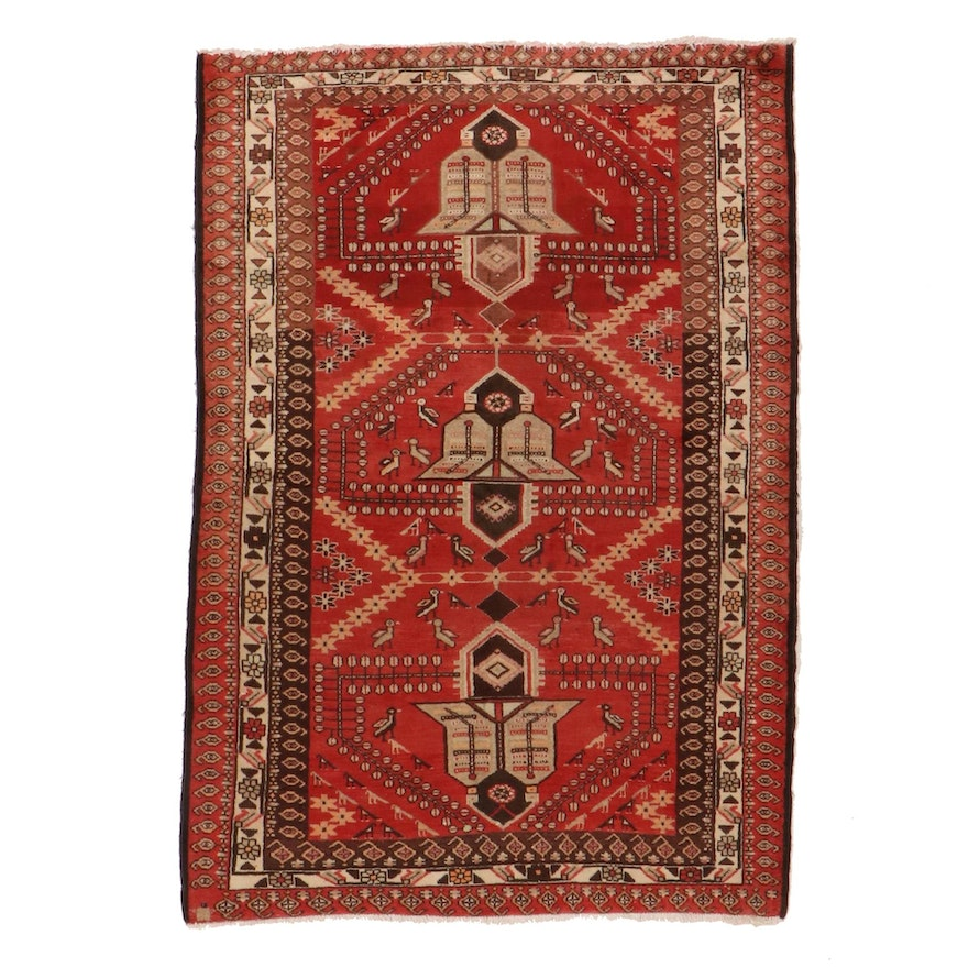 4'7 x 6'7 Hand-Knotted Northwest Persian Area Rug