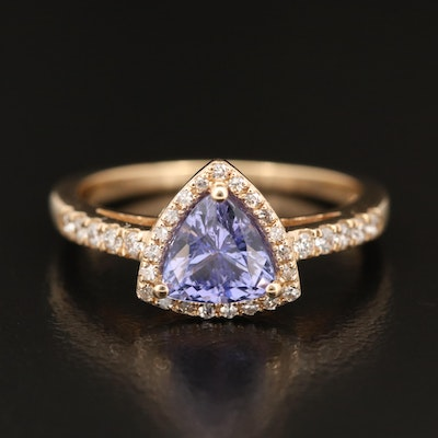 EFFY 14K Tanzanite and Diamond Ring