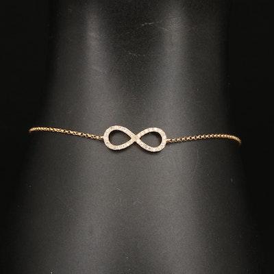 EFFY 14K Diamond Infinity Bracelet