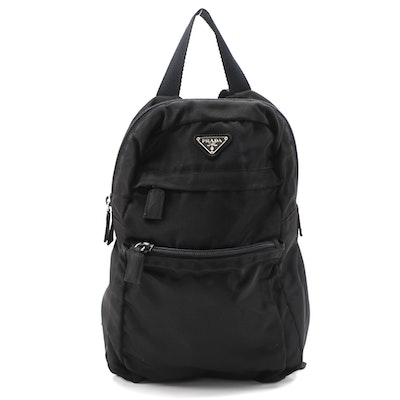 Prada Mini Backpack in Black Tessuto Nylon