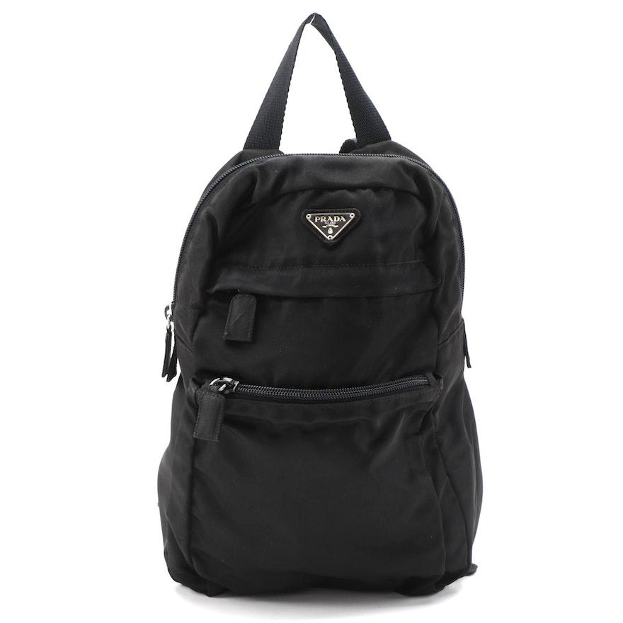 Prada Mini Backpack in Black Tessuto Nylon