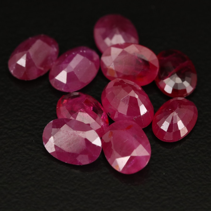 Loose 9.32 CTW Faceted Rubies