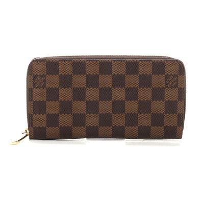 Louis Vuitton Zippy Wallet in Damier Ebene Canvas